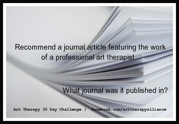 Art Therapy 30 Day Challenge Day 13: Recommend a Journal Article