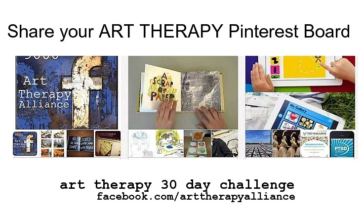 Art Therapy 30 Day Challenge- Day 6: Share your Art Therapy Pinterest Board
